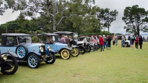 Beautiful vintage cars on the lawns.