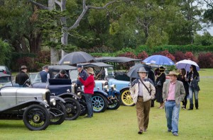 Vintage cars on the lawns.