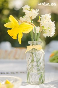 Sarah continued the yellow theme with spring flowers