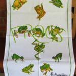 Assorted tea towel designs. $8 each. Additional designs available.