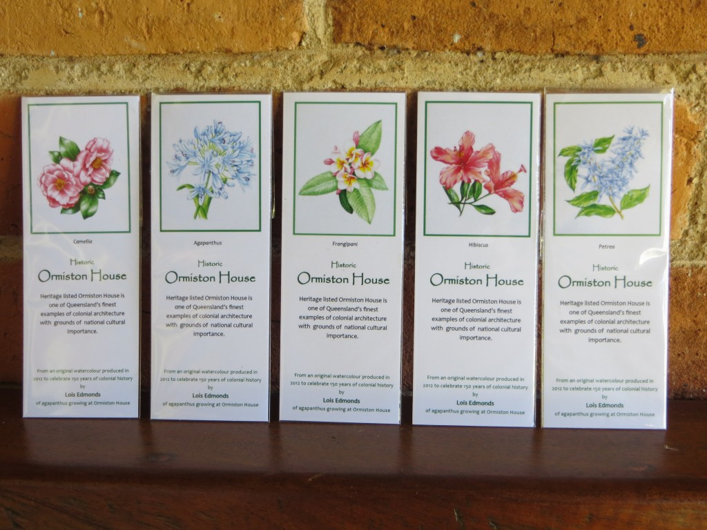 Botanical bookmarks, designed by Ormiston House volunteer Lois. $1 each or $4 for five bookmarks.