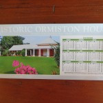 2018 Magnet Calendar featuring Ormiston House. $2.50 each.